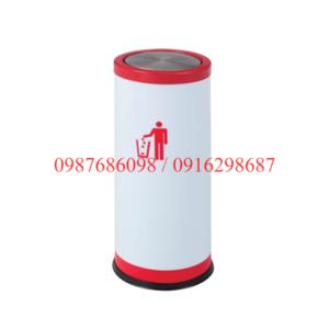Thùng rác inox tròn nắp lật A43-G giá rẻ tại hn và hcm