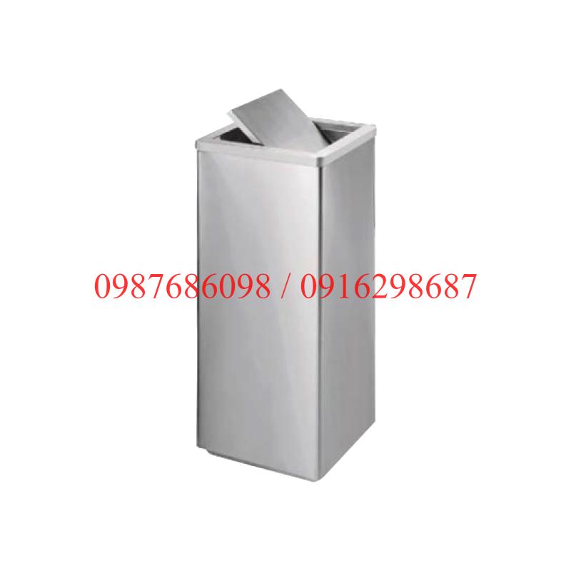 Thùng rác inox vuông bập bênh A34-F giá rẻ tại hn và hcm