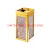 thùng rác inox đá hoa cương A-28 mạ vàng