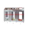 thùng rác inox 3 ngăn A88 mặt kính meca