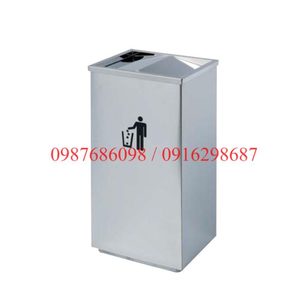 thùng rác inox nắp lật A34-G giá rẻ nhất