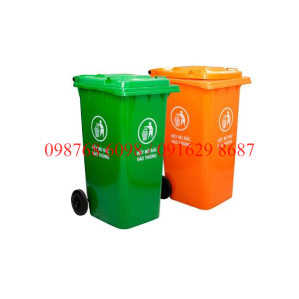 thùng rác nhựa 240 lit đặt nơi công cộng