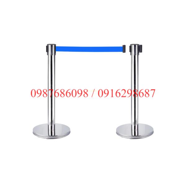 Cột chắn inox 2m dây xanh