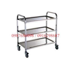 xe trolley don bat dua 3 tang bang inox
