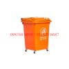 thùng rác nhựa 60 lít màu cam