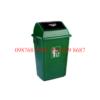 thùng rác nhựa 60 lít nắp bập bênh màu xanh